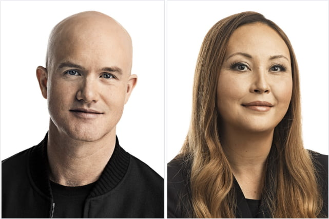 Find high-res headshots of the Coinbase executive leadership team.