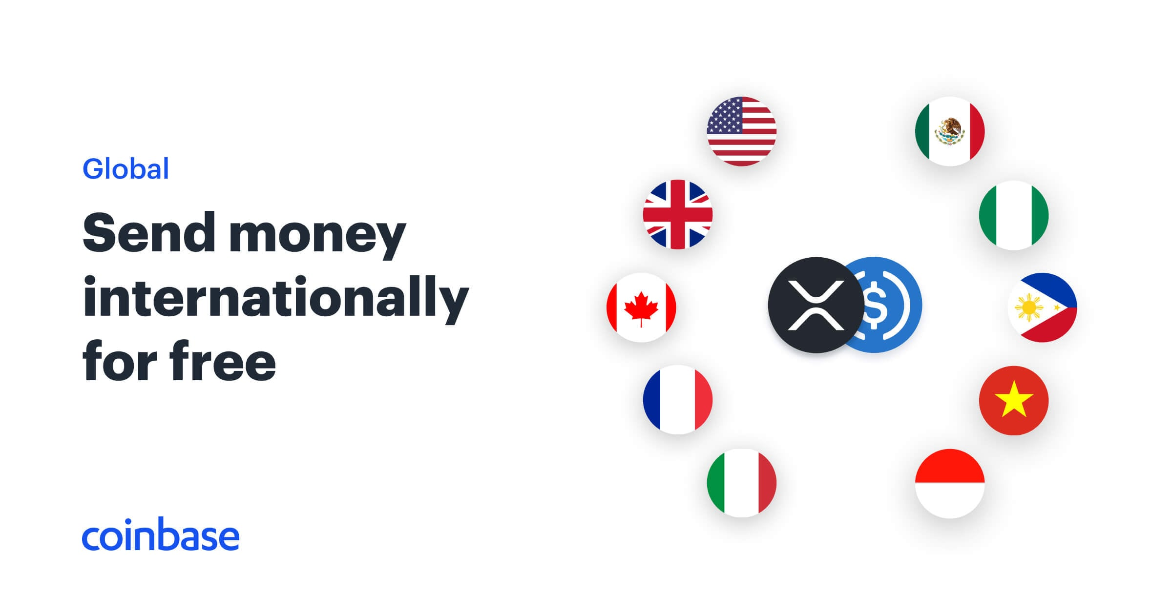 Send money internationally for free | Coinbase