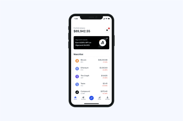 Need to feature a Coinbase product? Explore screenshots of our user interface on mobile and web.